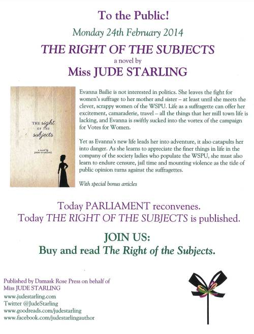The Right of the Subjects flyer